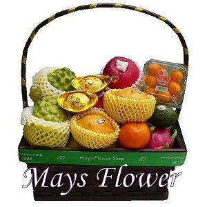 Chinese New Year Fruit Baskets Hampers 112-cny-basket