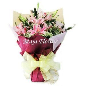 Lilies Bouquet - lily3641