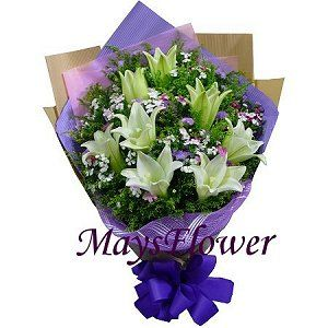 Lilies Bouquet - lily7039