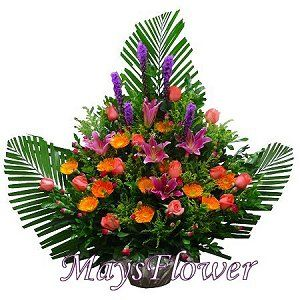 Grand Opening Flower Basket flbk1033