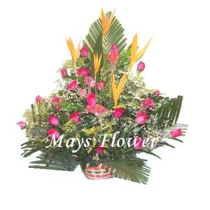Grand Opening Flower Basket flbk1061