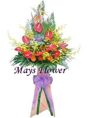 Grand Opening Flower Basket flbk0261
