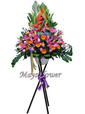 Grand Opening Flower Basket flbk0107