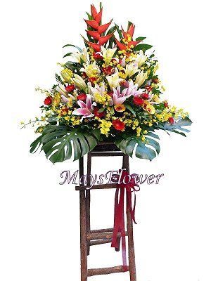 Grand Opening Flower Basket flbk0830