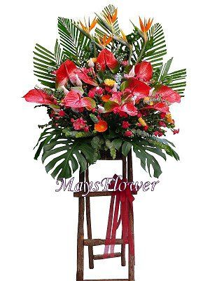 Grand Opening Flower Basket flbk0831