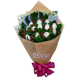 White Valentine's Day Flower (14-Mar) flower-bouquet-001