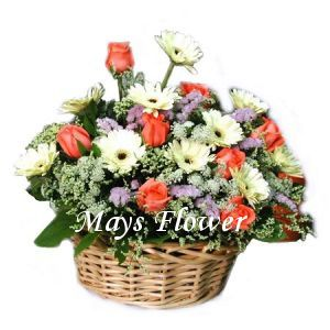 Flower Arrangement Basket - getw0202