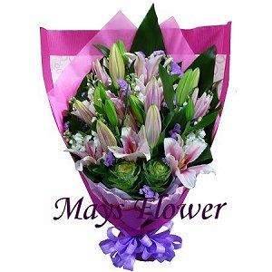 Lilies Bouquet lily7037