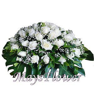 Funeral Flower Basket o-coffin-flower-028