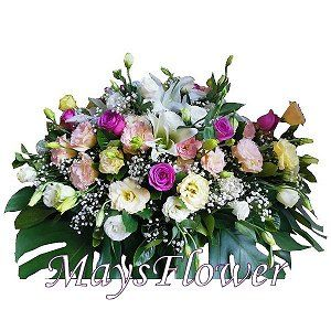 Funeral Flower Basket o-coffin-flower-129