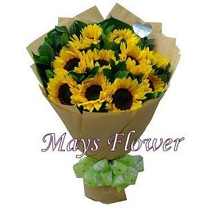 向日葵花束  sunflower-bouquet-004