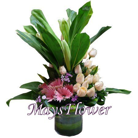 Flower Arrangement in Vase - floral-1007