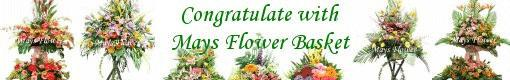 Online Flower Shop with HK florist send fresh flower arrangement, flower basket, gift hamper, funeral flower in Hong Kong.
